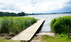 Den ny bådebro ved Kaj Munksvej